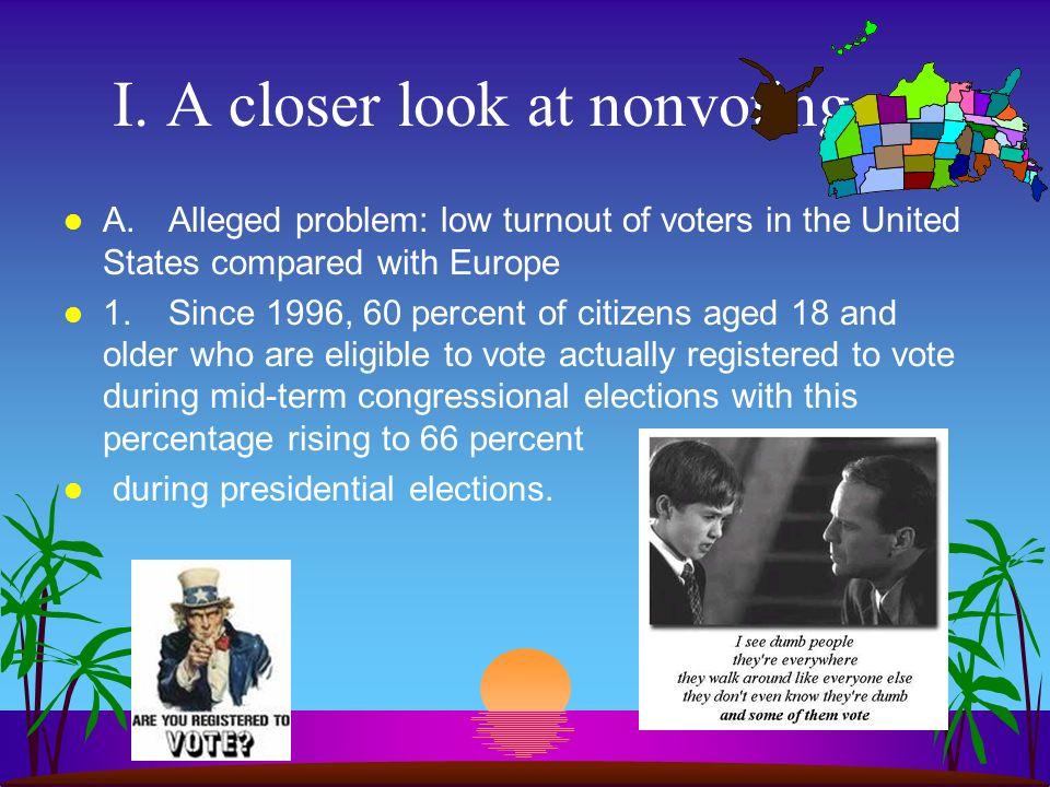 I. A closer look at nonvoting
