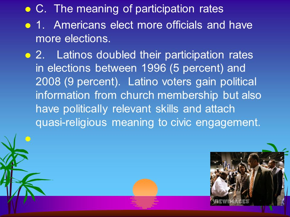 C. The meaning of participation rates