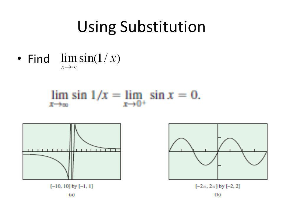 Using Substitution Find