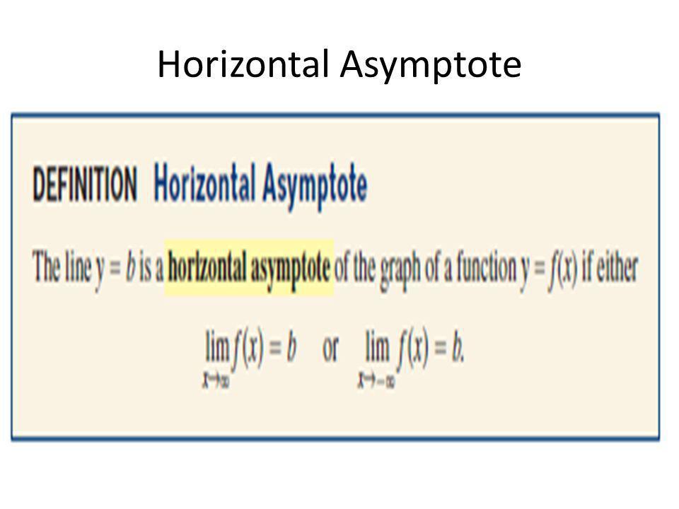 Horizontal Asymptote