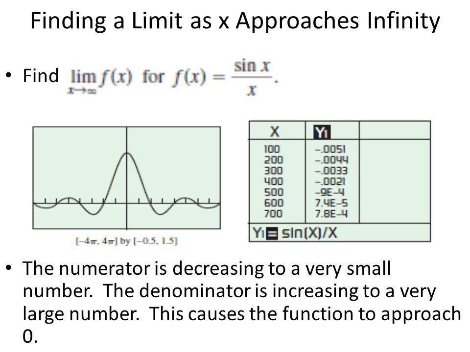 Finding a Limit as x Approaches Infinity