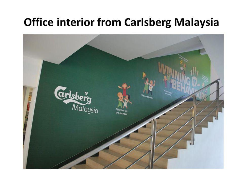 Office interior from Carlsberg Malaysia