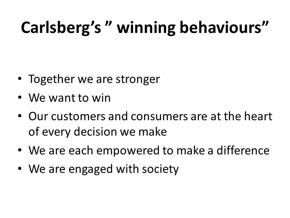 Carlsberg's winning behaviours