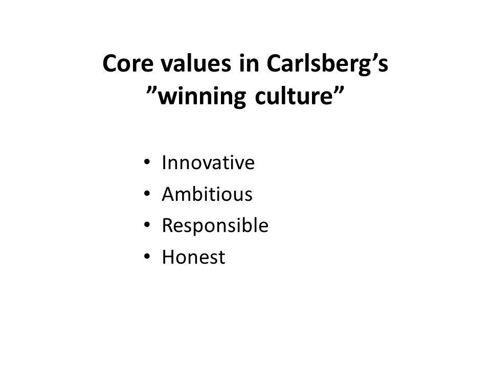 Core values in Carlsberg's winning culture