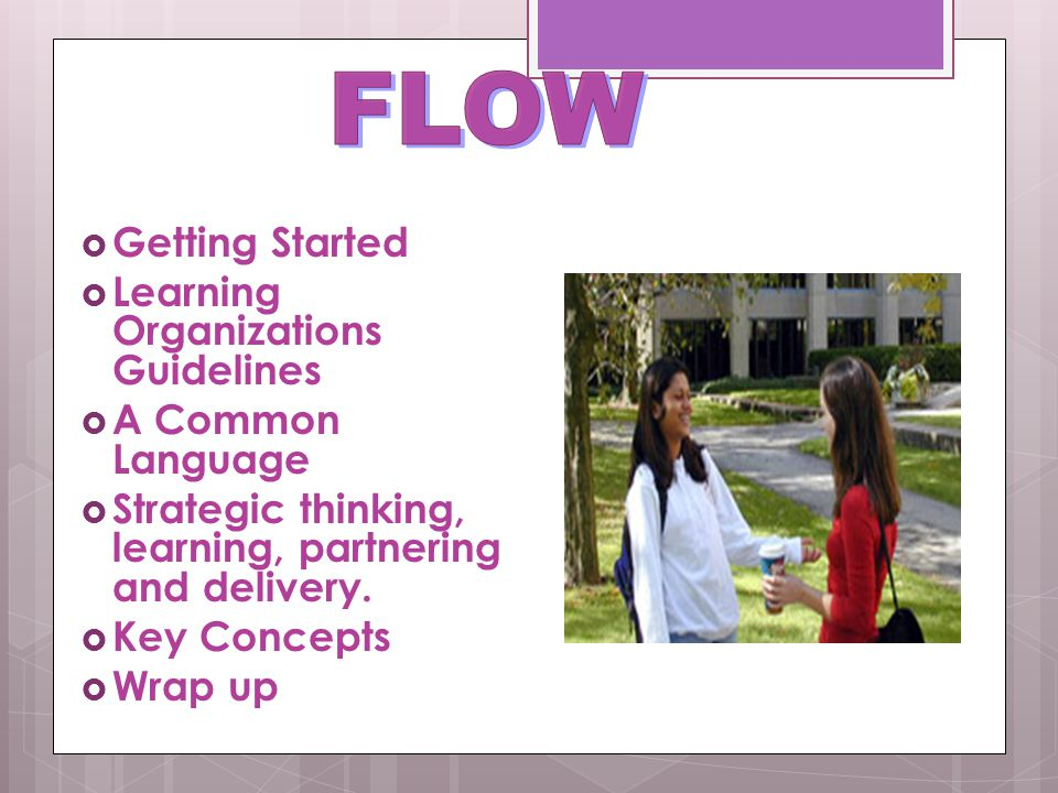 FLOW Getting Started Learning Organizations Guidelines