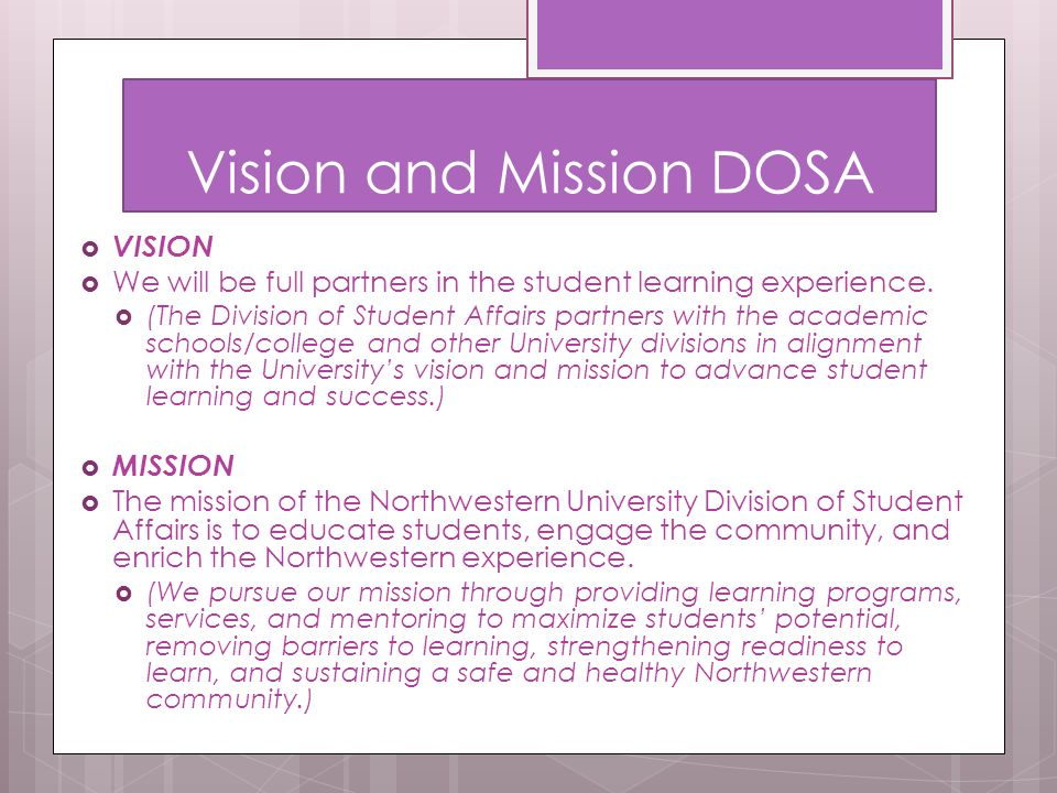 Vision and Mission DOSA