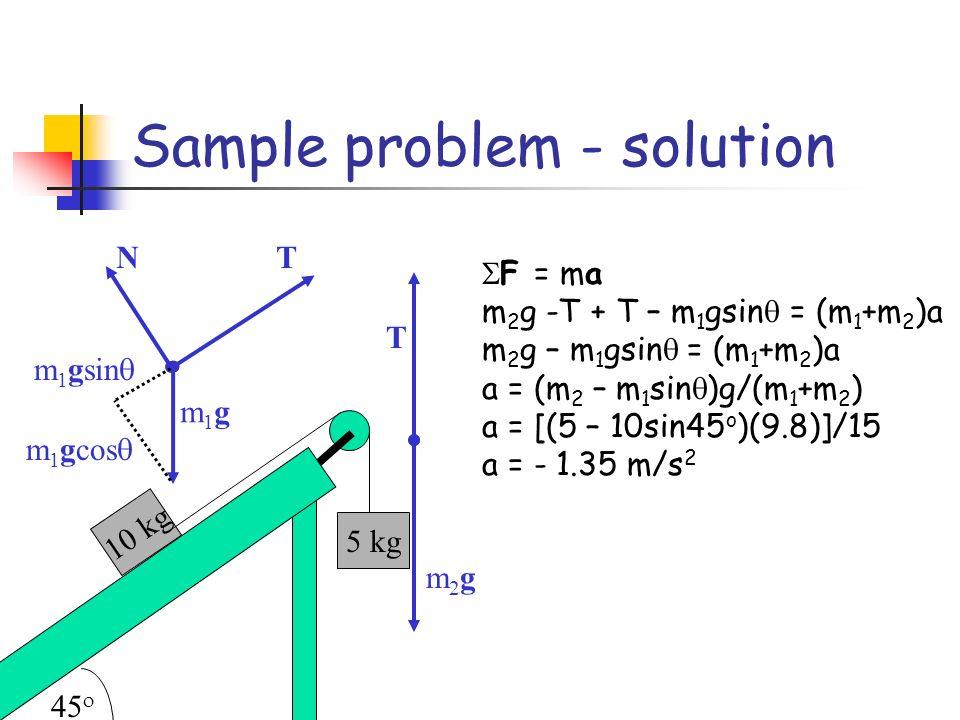 Sample problem - solution