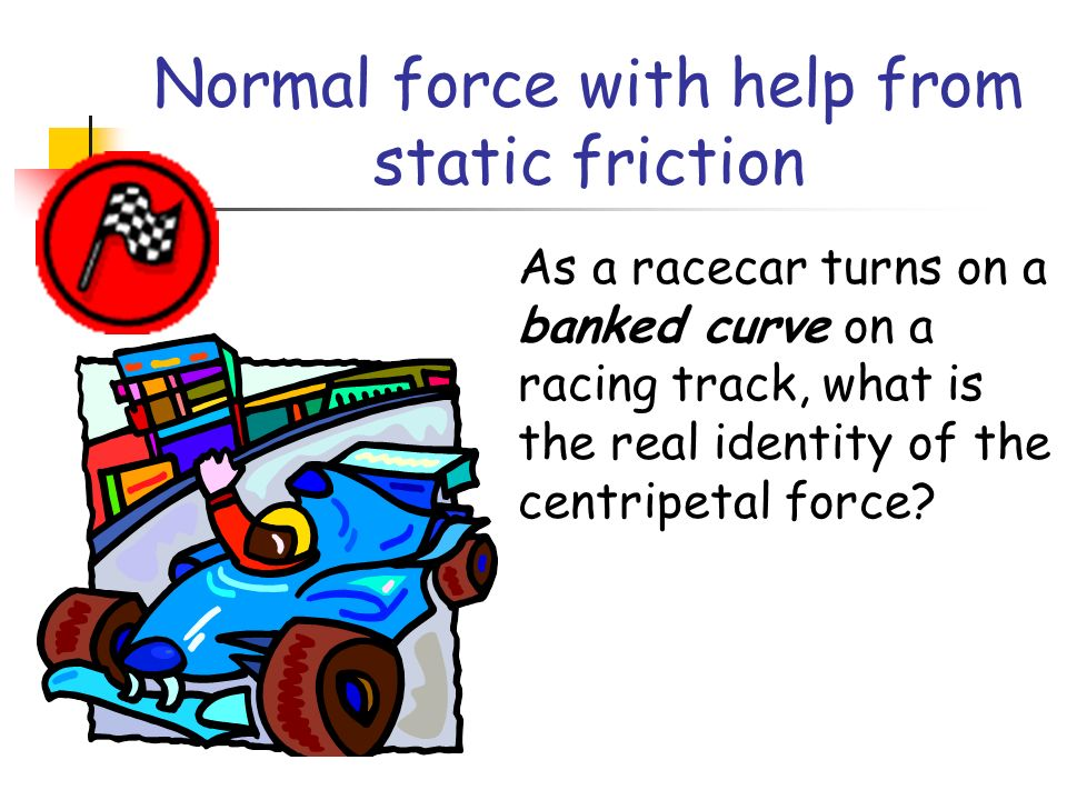 Normal force with help from static friction
