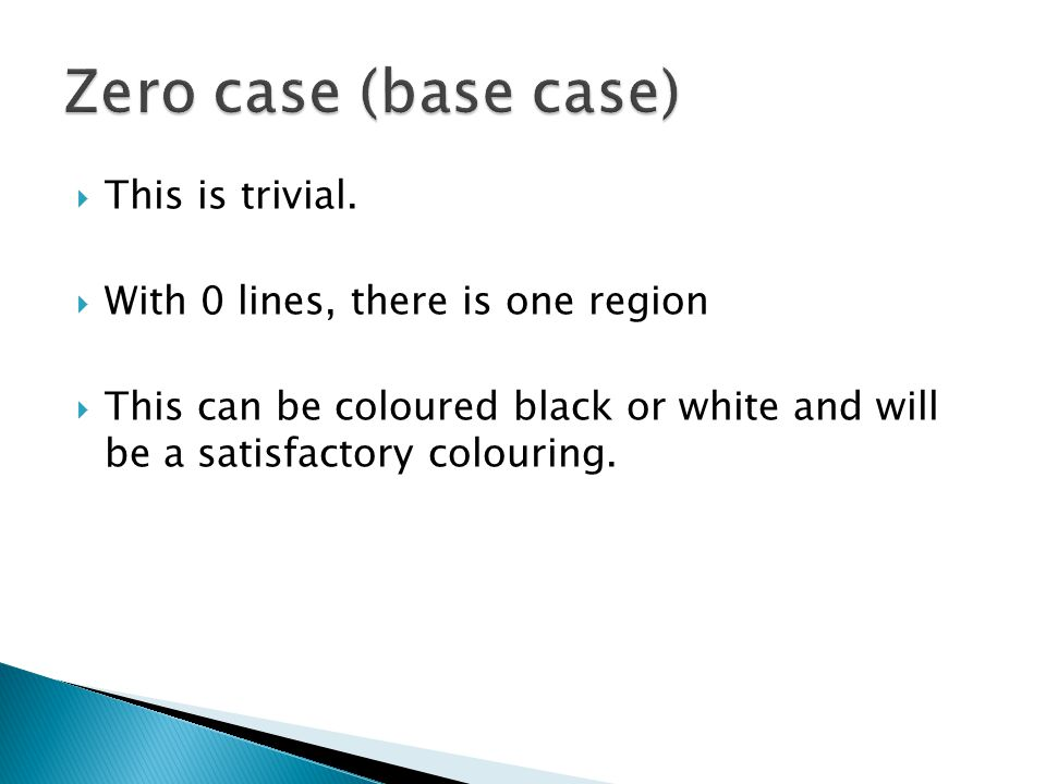 Zero case (base case) This is trivial.