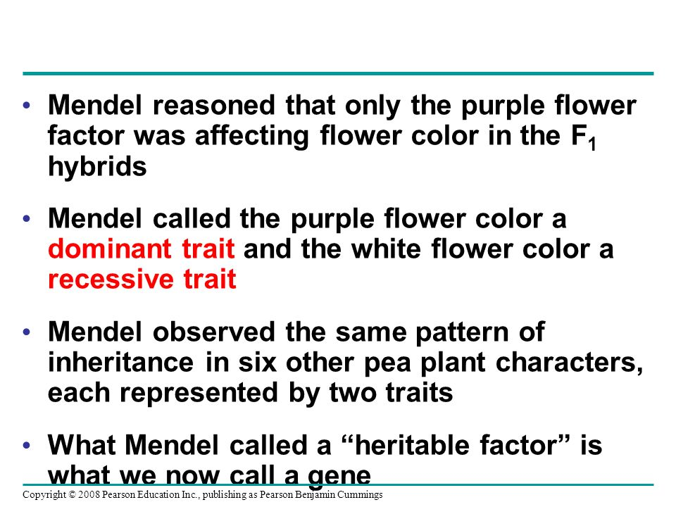 What Mendel called a heritable factor is what we now call a gene