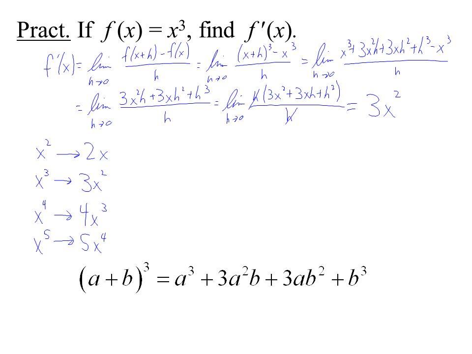 Pract. If f (x) = x3, find f (x).