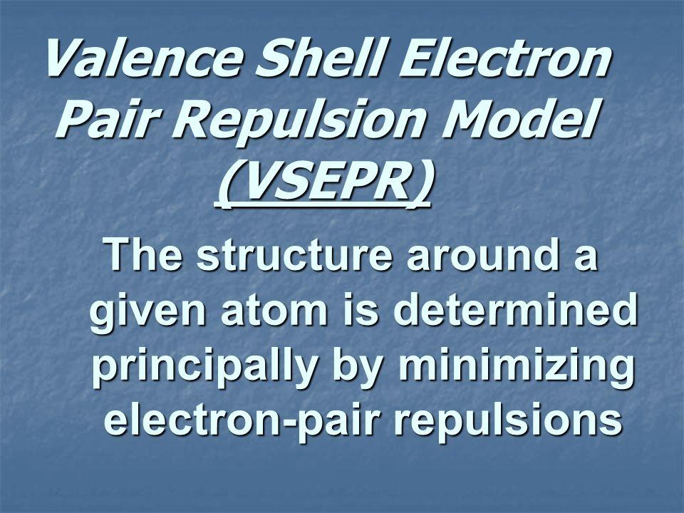 Valence Shell Electron Pair Repulsion Model (VSEPR)