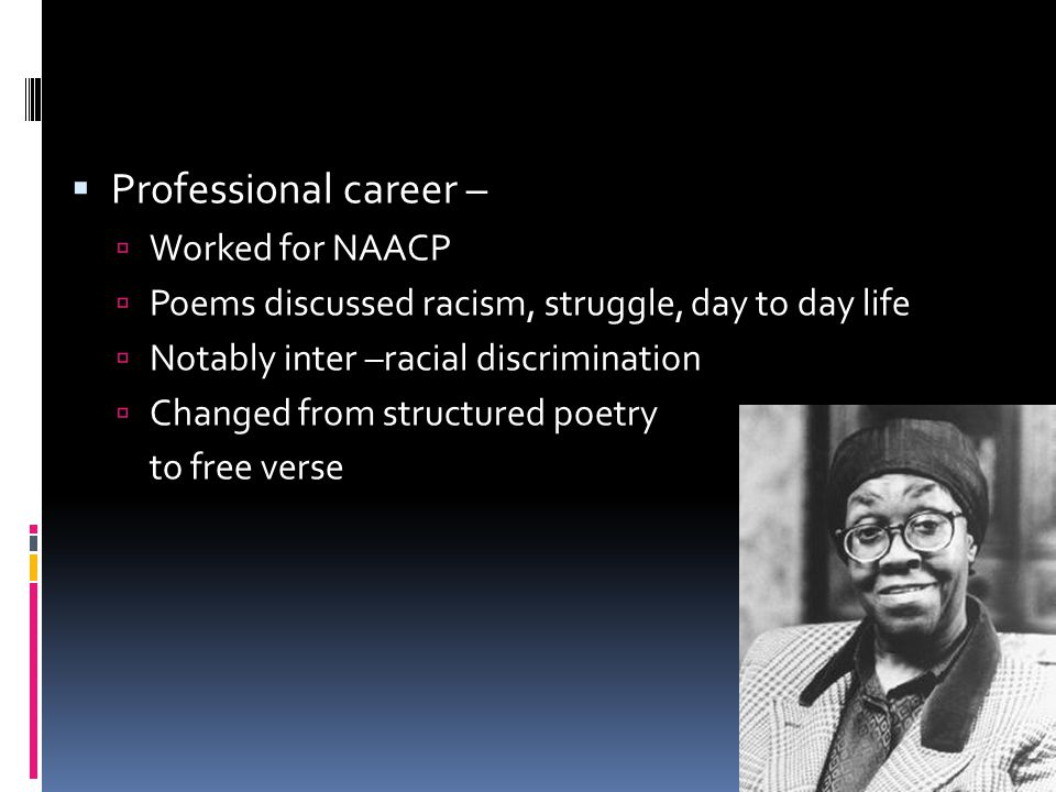 Professional career – Worked for NAACP