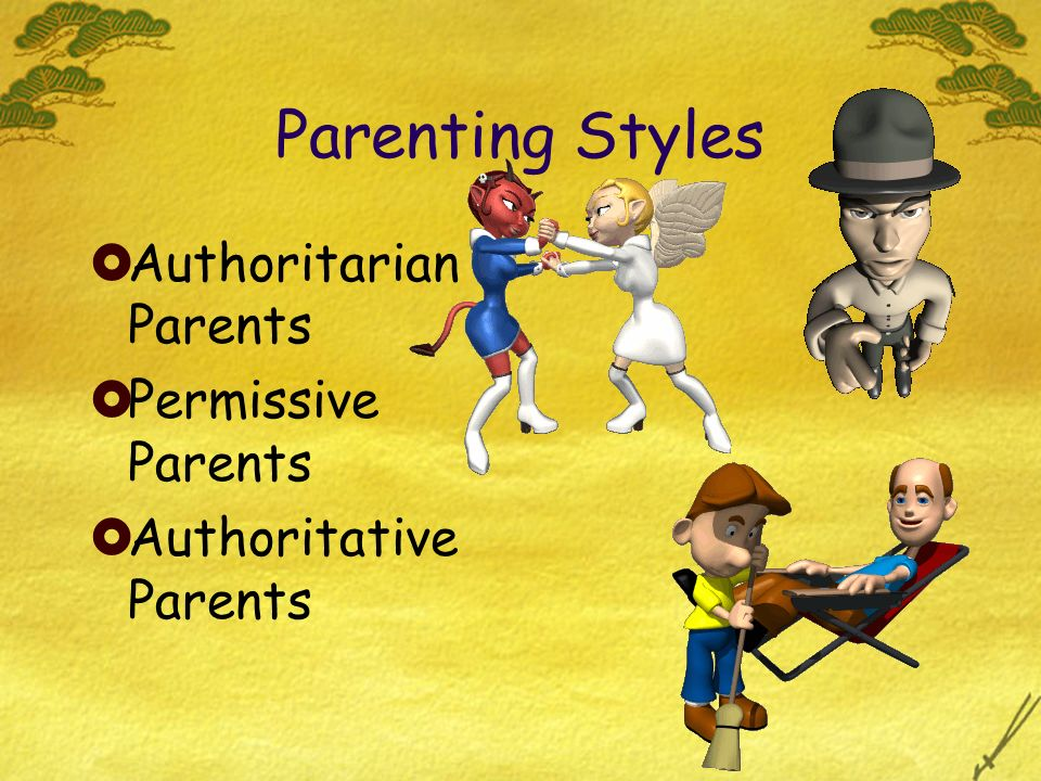 Parenting Styles Authoritarian Parents Permissive Parents