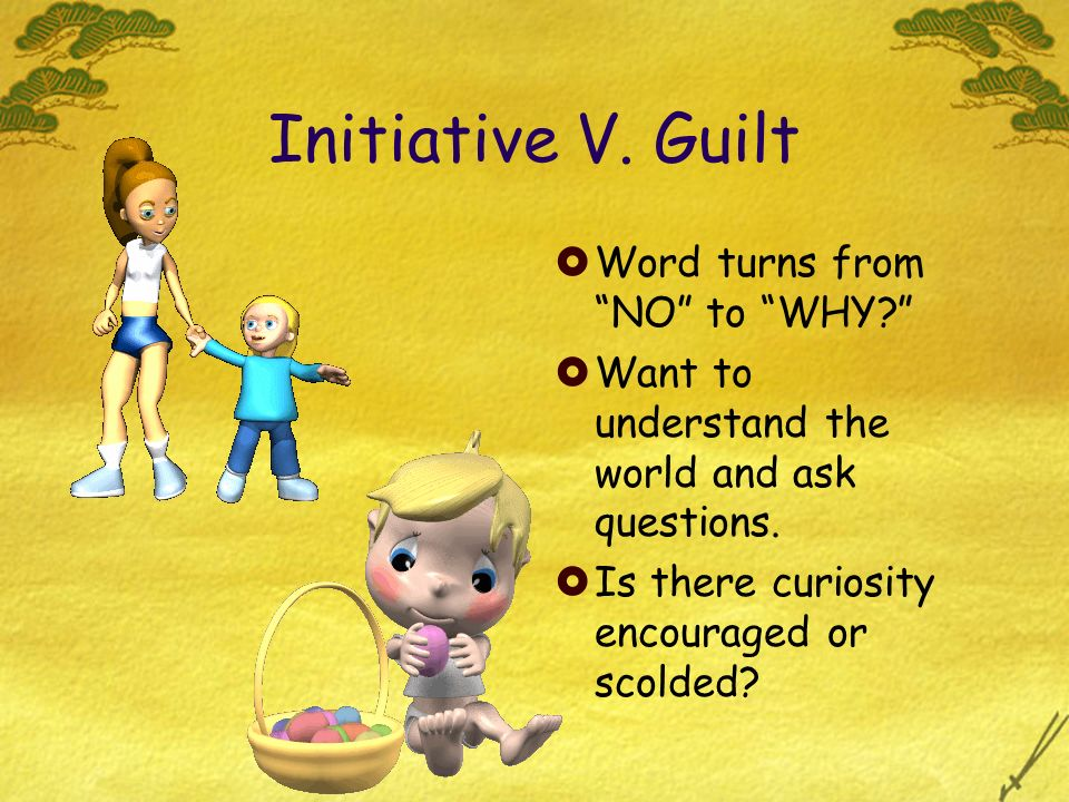 Initiative V. Guilt Word turns from NO to WHY