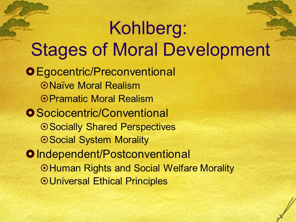 Kohlberg: Stages of Moral Development