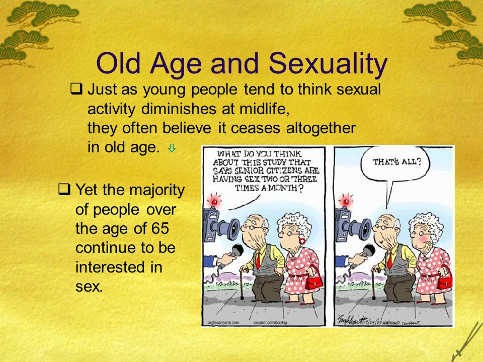 Old Age and Sexuality