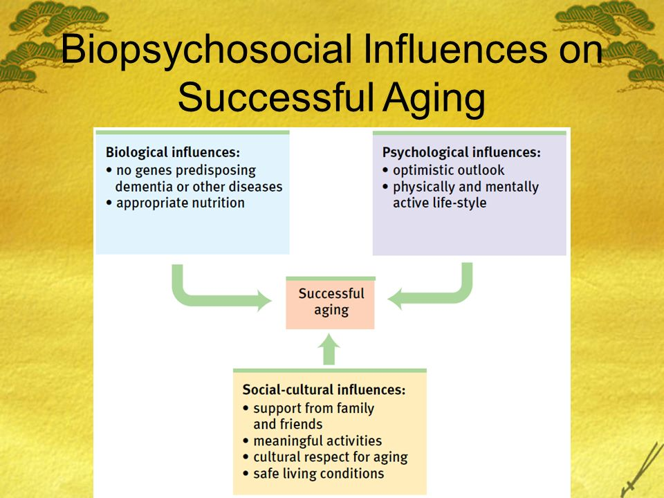 Biopsychosocial Influences on Successful Aging