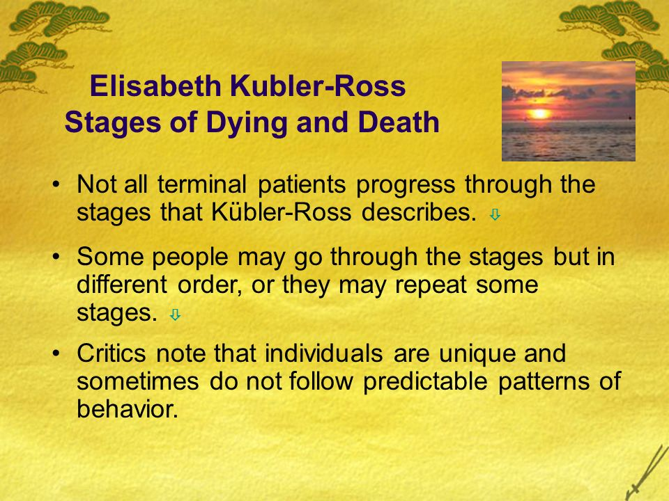 Elisabeth Kubler-Ross Stages of Dying and Death