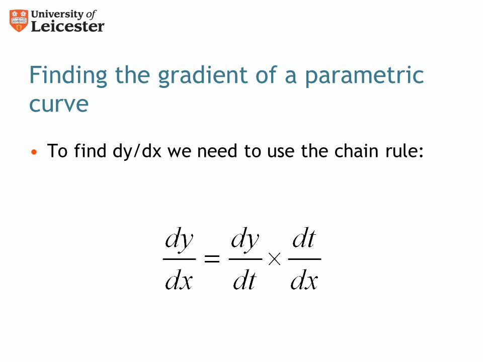 Finding the gradient of a parametric curve