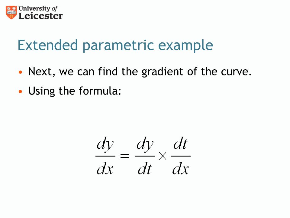 Extended parametric example