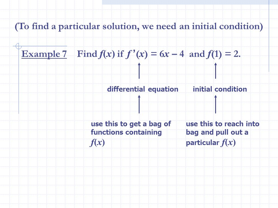 (To find a particular solution, we need an initial condition)