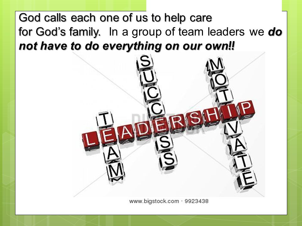 God calls each one of us to help care