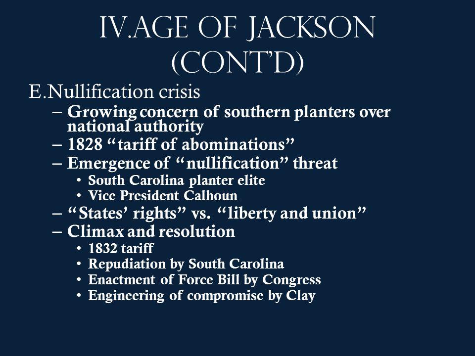 Age of Jackson (cont'd)
