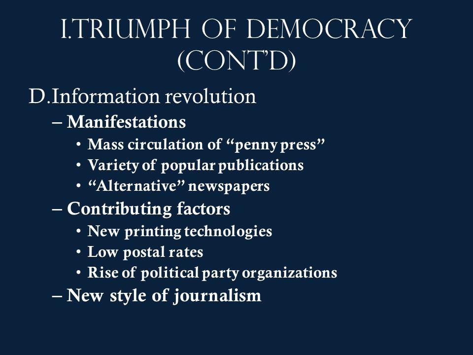 Triumph of democracy (cont'd)