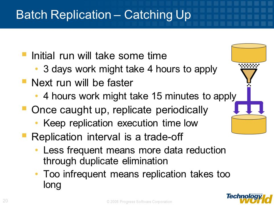 Batch Replication – Catching Up