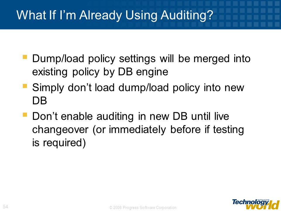 What If I'm Already Using Auditing