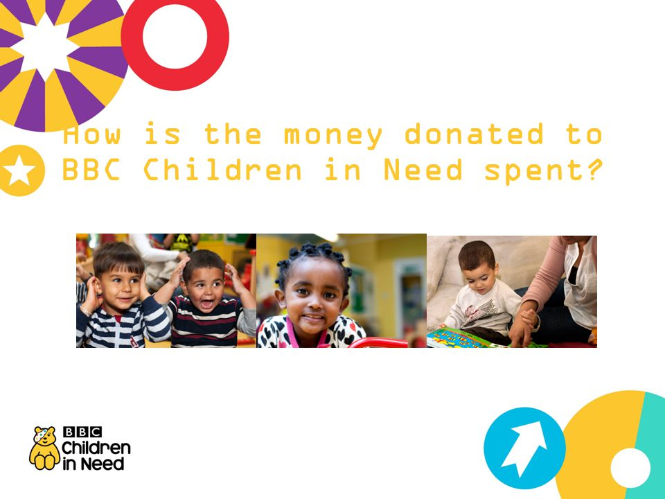 How is the money donated to BBC Children in Need spent
