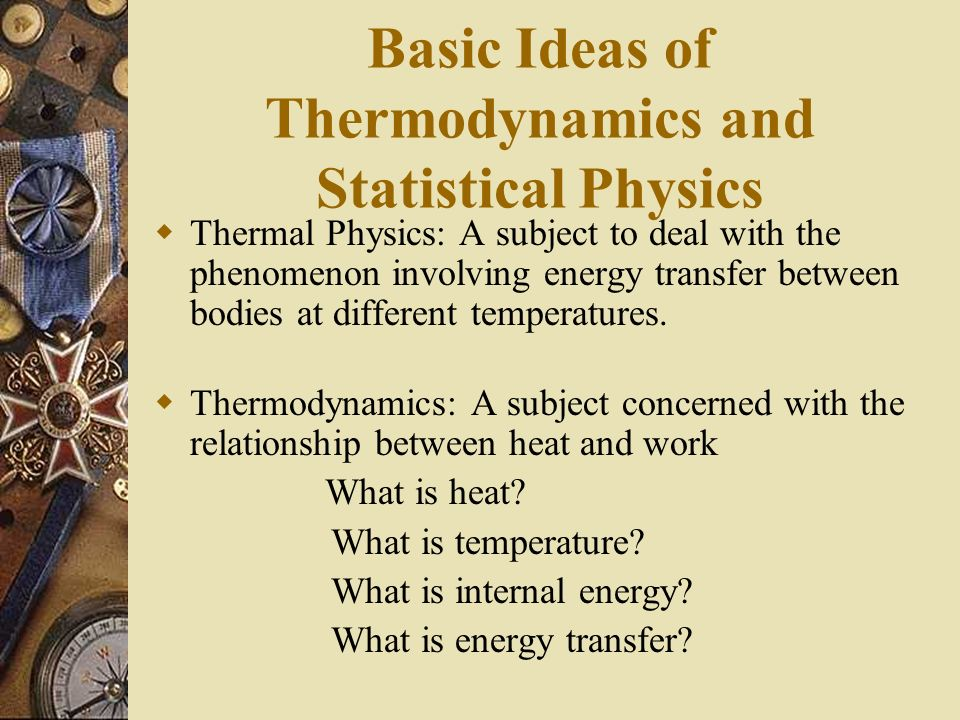 Basic Ideas of Thermodynamics and Statistical Physics