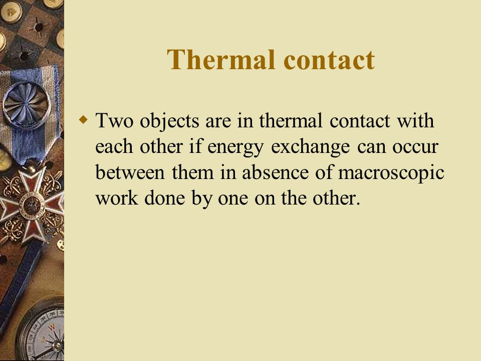 Thermal contact