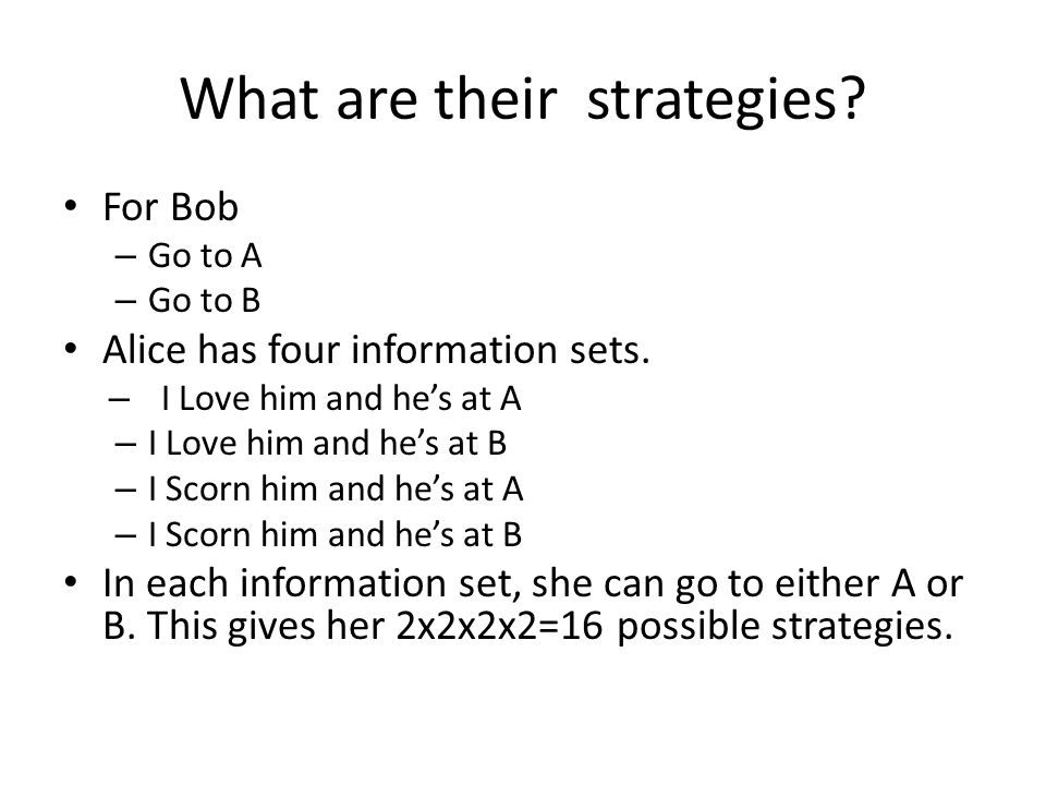 What are their strategies