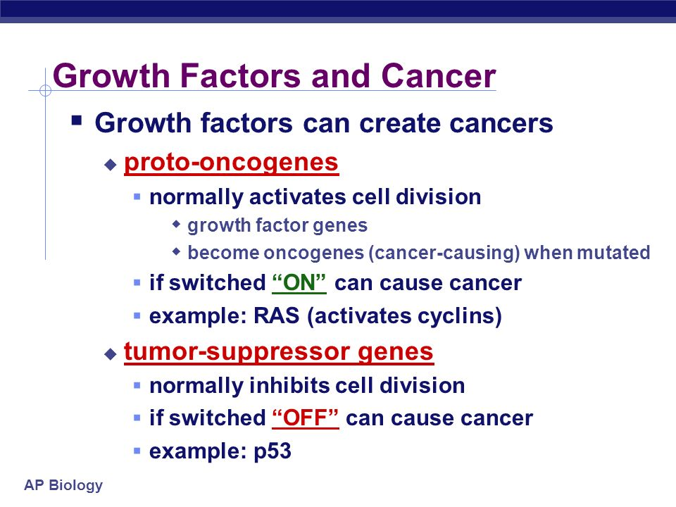 Growth Factors and Cancer