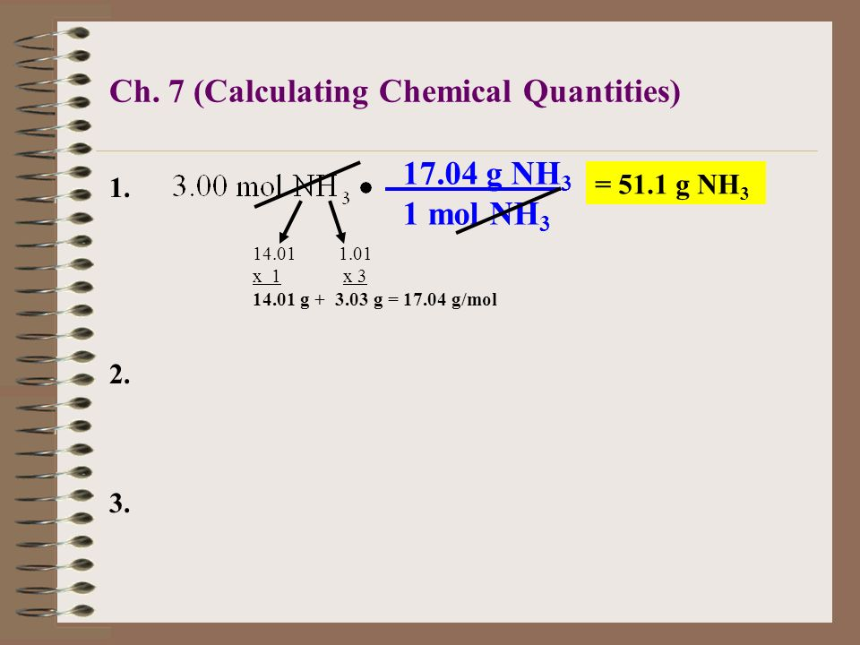 Ch. 7 (Calculating Chemical Quantities)
