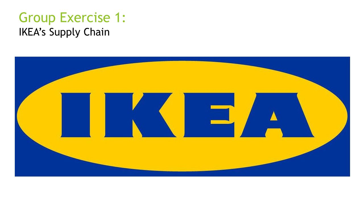 Group Exercise 1: IKEA's Supply Chain Justin and Dan