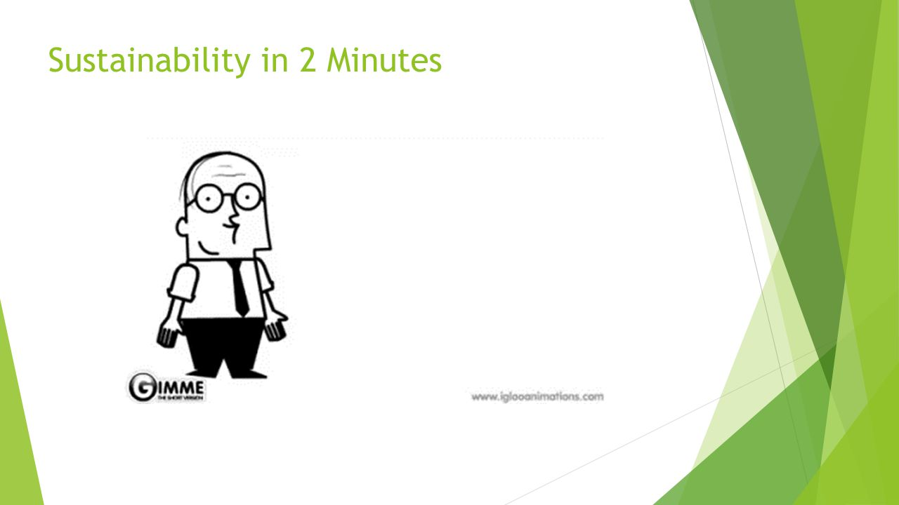 Sustainability in 2 Minutes