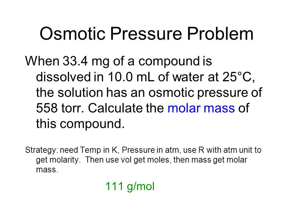 Osmotic Pressure Problem