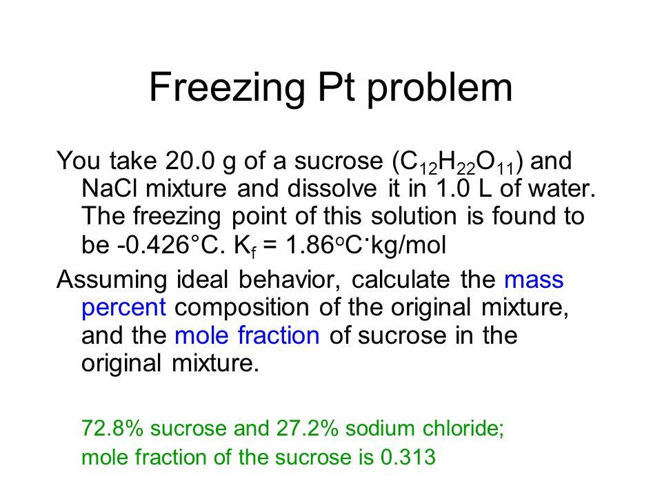 Freezing Pt problem