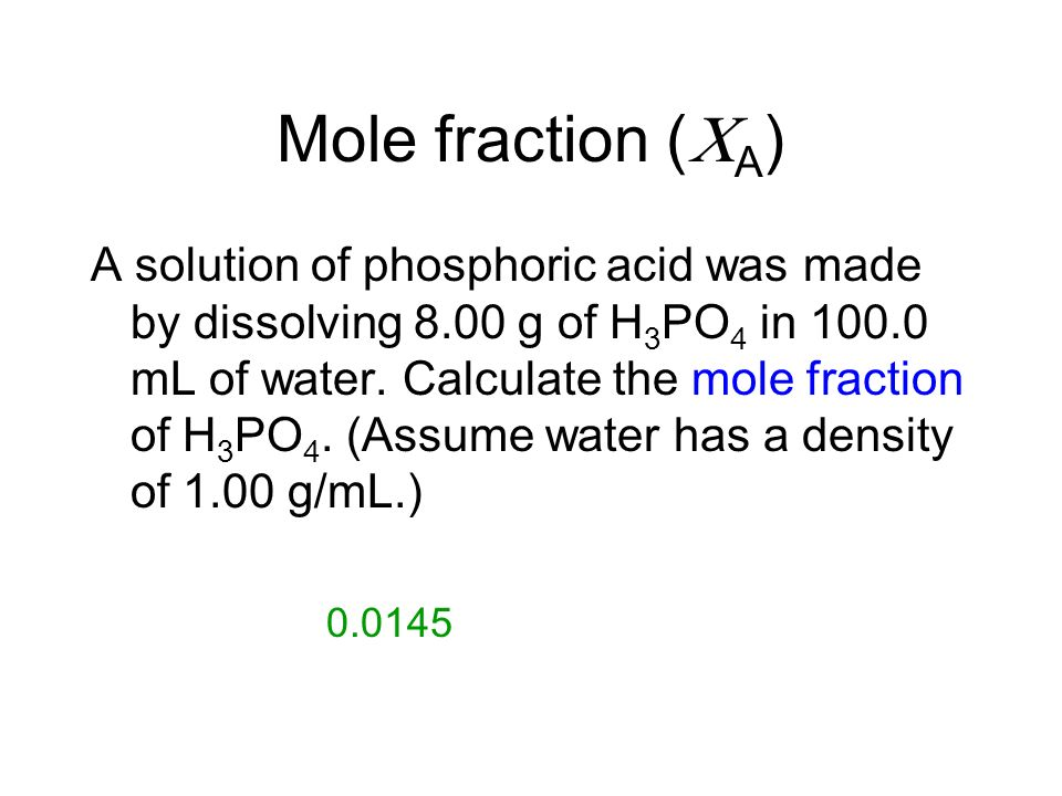 Mole fraction (A)
