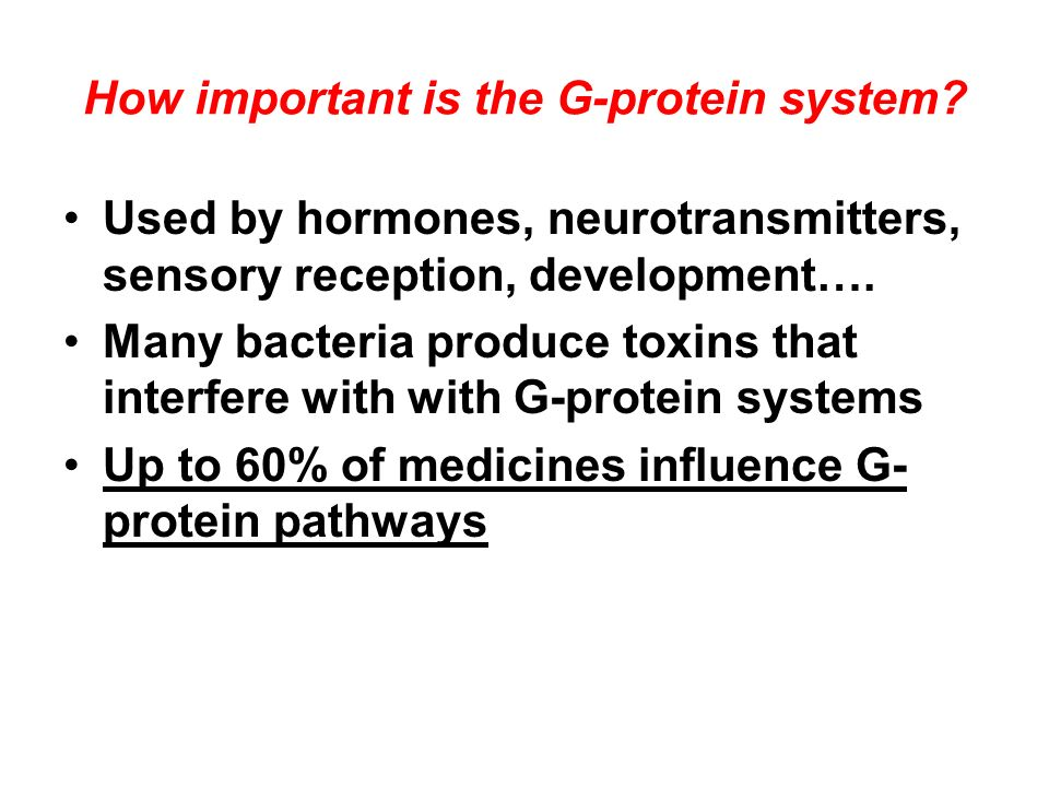How important is the G-protein system