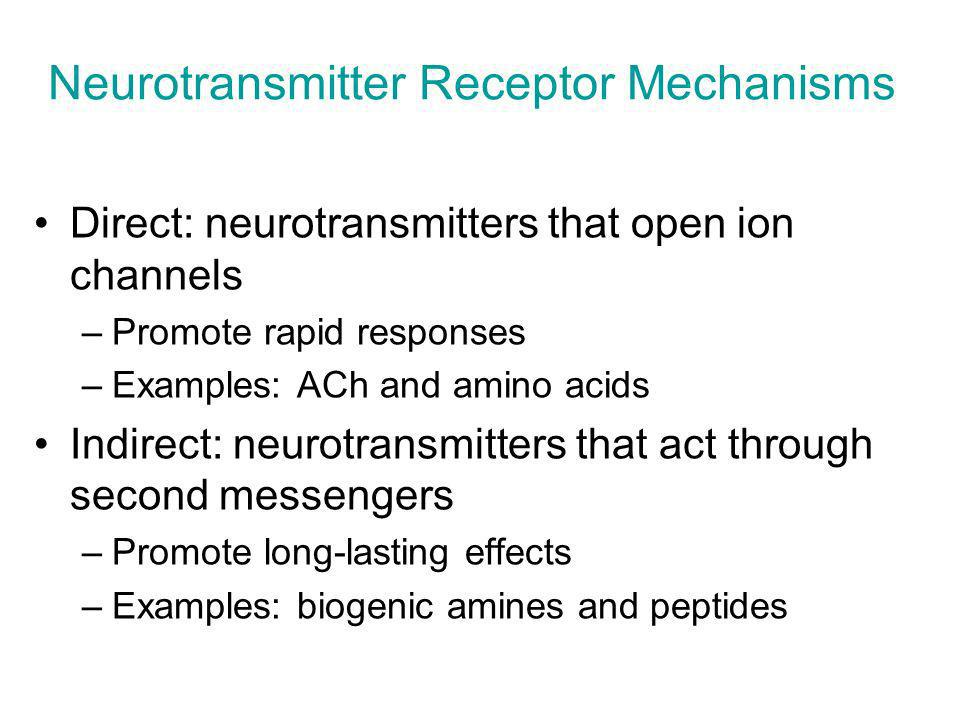 Neurotransmitter Receptor Mechanisms