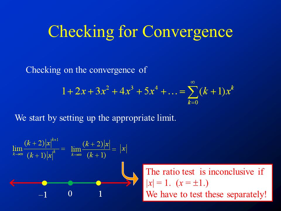 Checking for Convergence