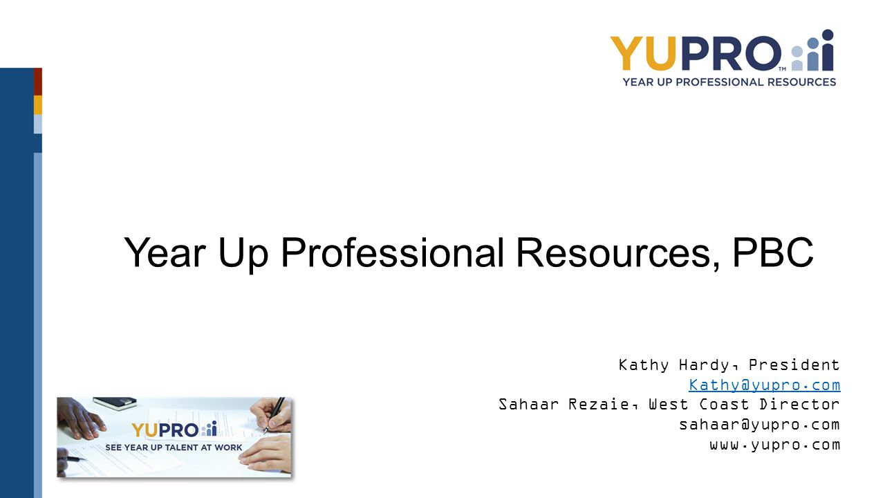 Year Up Professional Resources, PBC