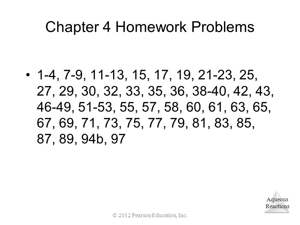 Chapter 4 Homework Problems