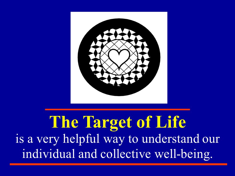 The Target of Life is a very helpful way to understand our individual and collective well-being.
