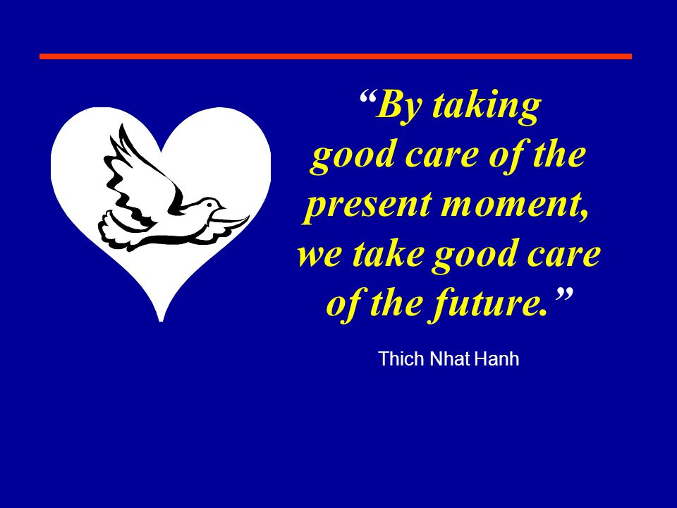 good care of the present moment,