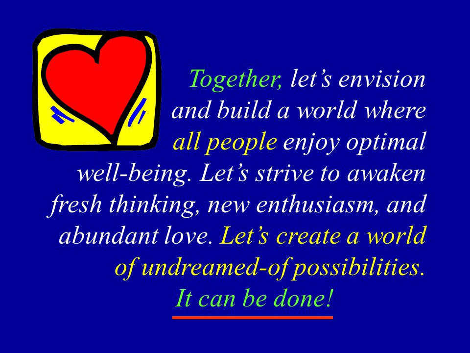 Together, let's envision